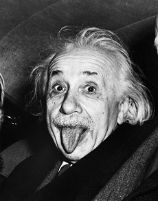 Einstein tirant la langue