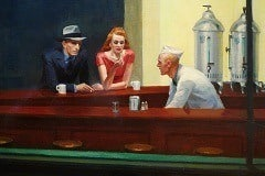 Le tableau Nighthawks, d'Edward Hopper